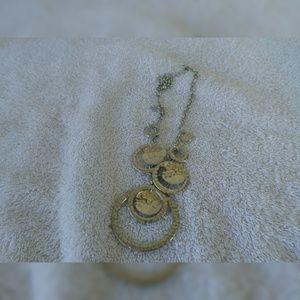 Vintage Silver circles necklace
